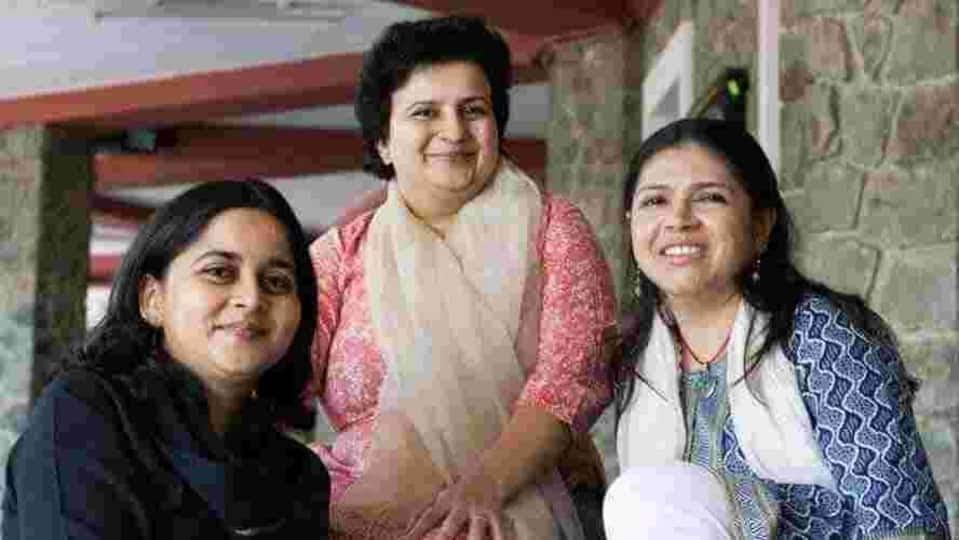 (from left) Shilpa Ranade, Shilpa Phadke and Sameera Khan.
